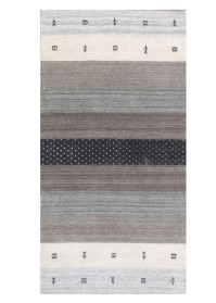 MOD002 Cream & Brown Modern Viscose Rugs