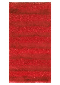 SWI001 Red Horizontal Bold Stripes Swirl Shaggy Rugs