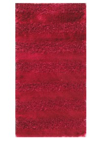 SWI002 Vine Red Horizontal Bold Stripes Swirl Shaggy Rugs