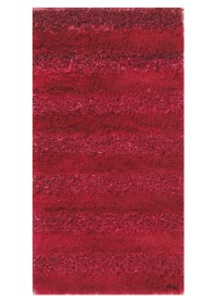 SWI007 Red & Pink Bold Stripes Swirl Shaggy Rugs