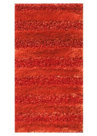 SWI008 Orange Bold Stripes Swirl Shaggy Rugs