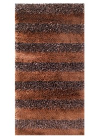 SWI009 Brown & Choco Bold Stripes Swirl Shaggy Rugs