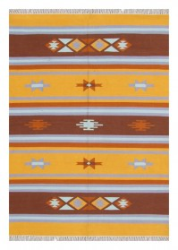 ANT004 Yellow & Brown Mix Pattern Antique Cotton Rugs