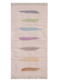 BRU002 Crepe Multi Strokes Brush Cotton Rugs