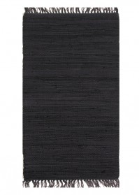 FLA004 Black Flairs Cotton Rugs