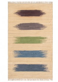 BRU007 Beige Multi Strokes Brush Cotton Rugs