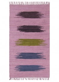 BRU009 Pink Multi Strokes Brush Cotton Rugs