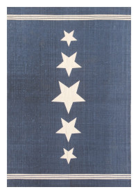 MON001 Blue Star Pattern Monaco Cotton Rugs
