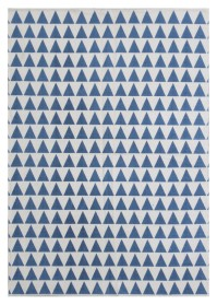 MON002 White & Blue Mountain Pattern Monaco Cotton Rugs