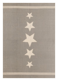 MON003 Grey Star Pattern Monaco Cotton Rugs
