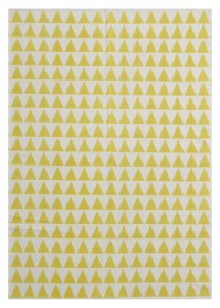 MON004 White & Yellow Mountain Pattern Monaco Cotton Rugs