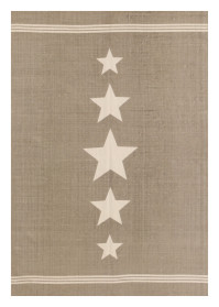 MON005 Light Brwon Mix Star Pattern Monaco Cotton Rugs