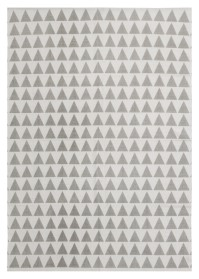 MON006 White & Light Grey Mountain Pattern Monaco Cotton Rugs