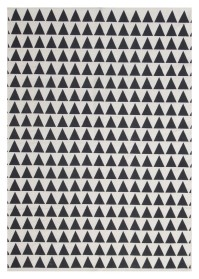 MON008 White & Dark Black Mountain Pattern Monaco Cotton Rugs